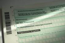 Formular für eine Einkommensteuererklärung