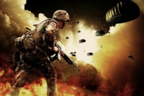 Montage eines Kriegseinsatzes