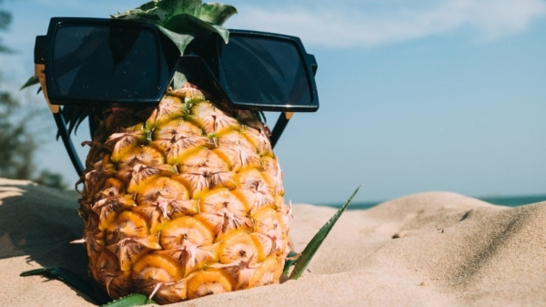 Eine Ananas braucht auch mal Urlaub