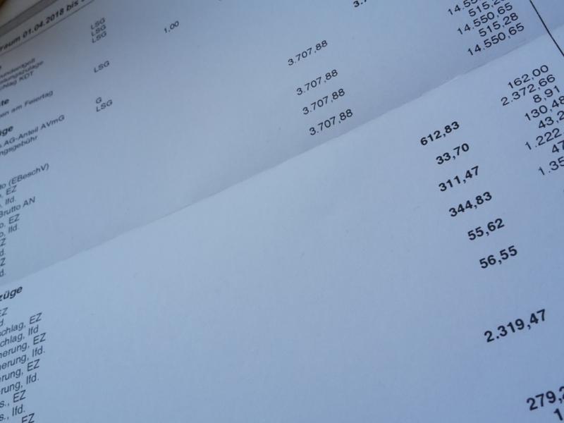 Conrad B. zeigt uns seinen aktuellen Lohnzettel