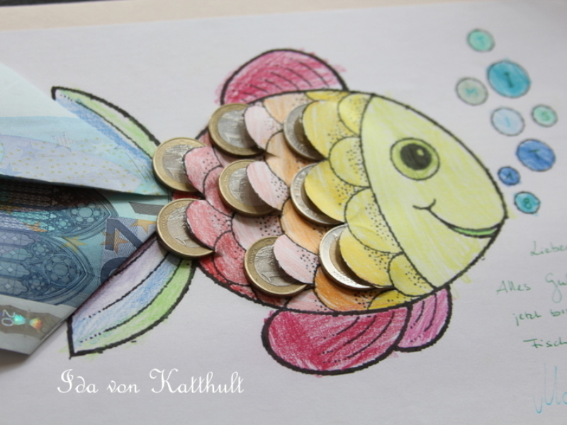 Zaster Der Regenbogen Geldfisch