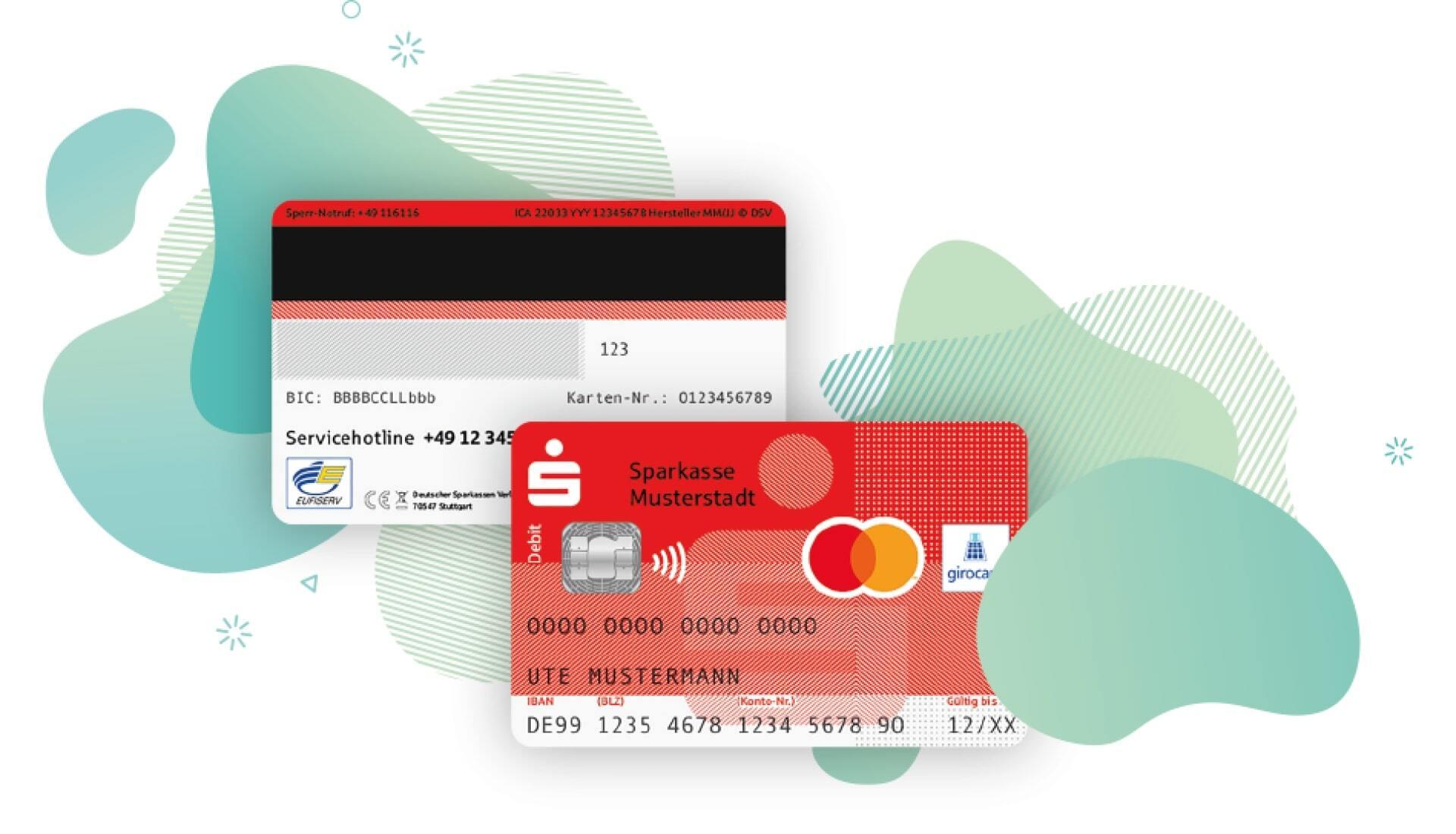 """Debitkarten unterscheiden sich durch das Logo (Visa oder Mastercard) und die Aufschrift """"Debit"""" von Girokarten."""