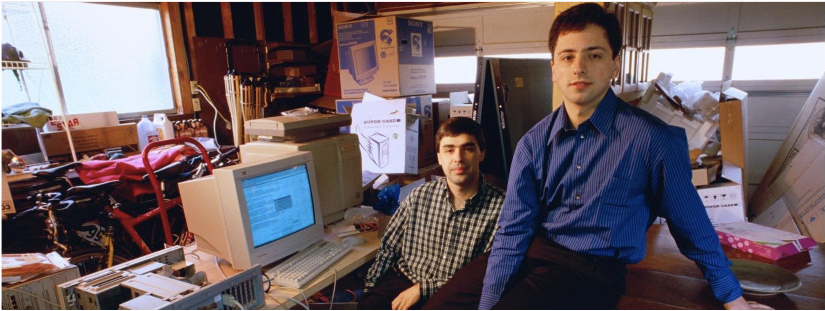 Die Gründer: Larry Page und Sergej Brin