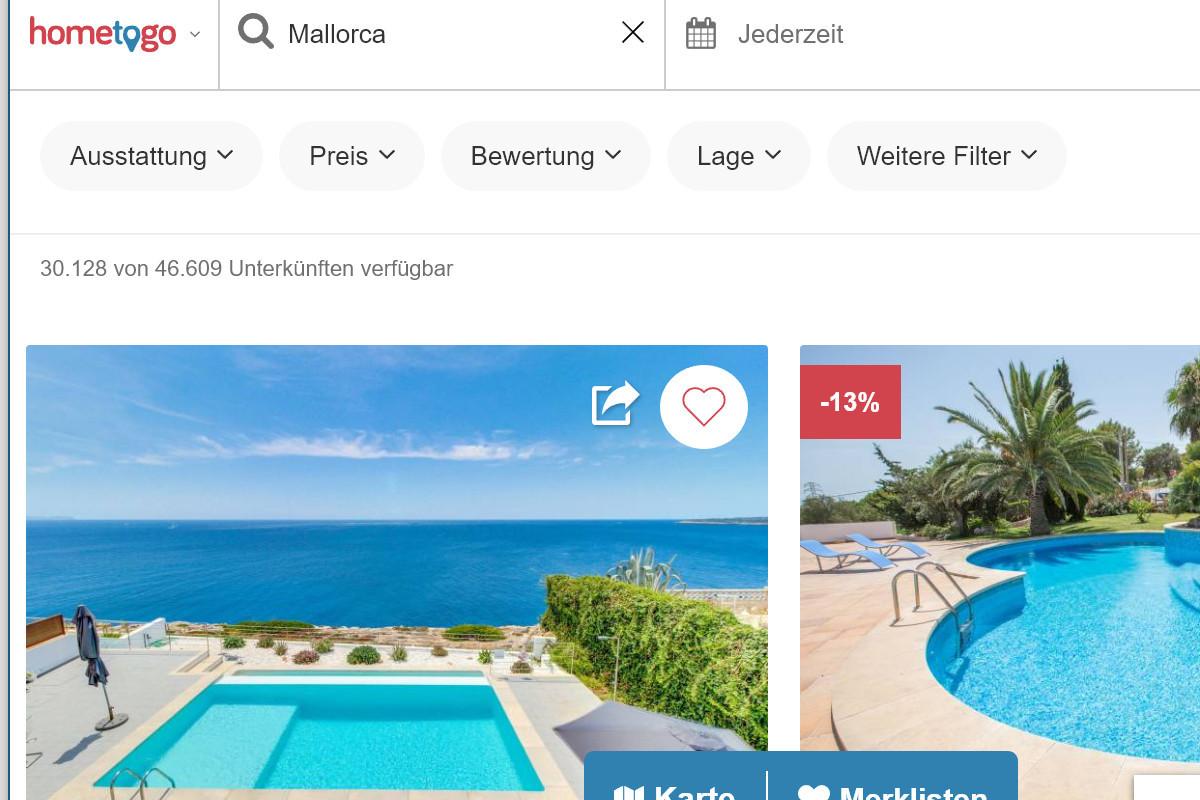 Mit der Ferienhaus-Suchmaschine von Hometogo.de hast du die Auswahl aus knapp 16 Millionen Ferienhäusern weltweit.
