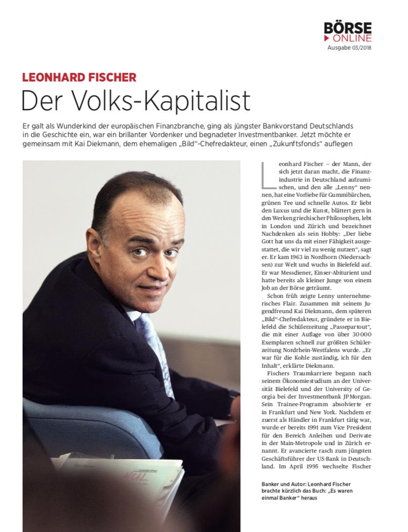 """Wir in der Presse - Börse Online """"Der Volks-Kapitalist"""""""