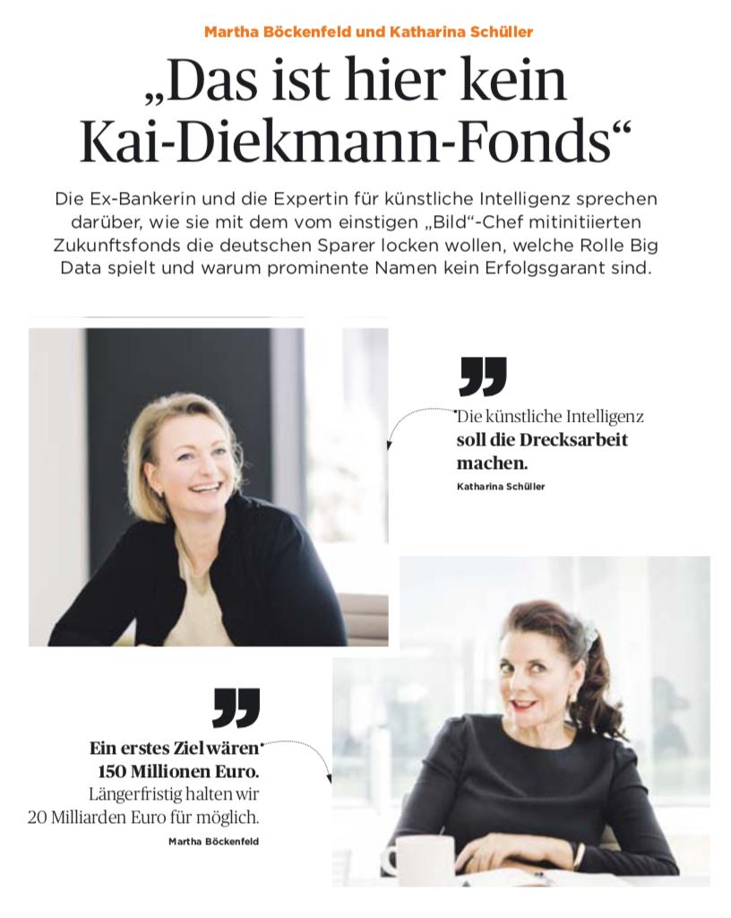 """Wir in der Presse - Handelsblatt """"Das ist hier kein Kai-Diekmann-Fonds"""""""