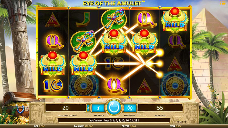revue Eye of the Amulet session screenshot
