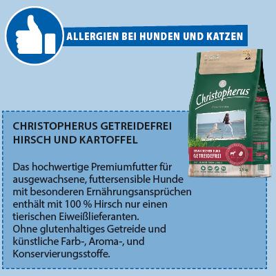 Christopherus getreidefrei Hirsch und Kartoffell