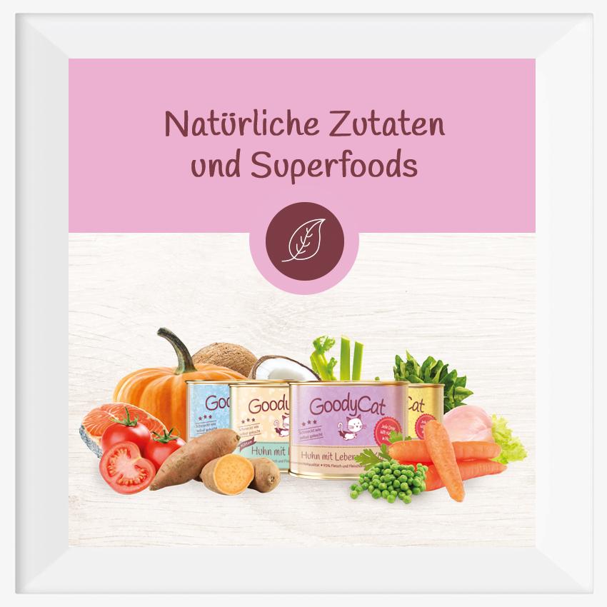 GoodyCat: Natürliche Zutaten und Superfoods