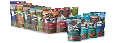 Happy Dog Soft Snacks und Meat Snacks