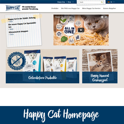 Happy Cat Homepage