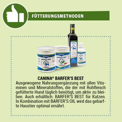 Canina Barfer's Best Nahrungsergänzung für Hunde und Katzen