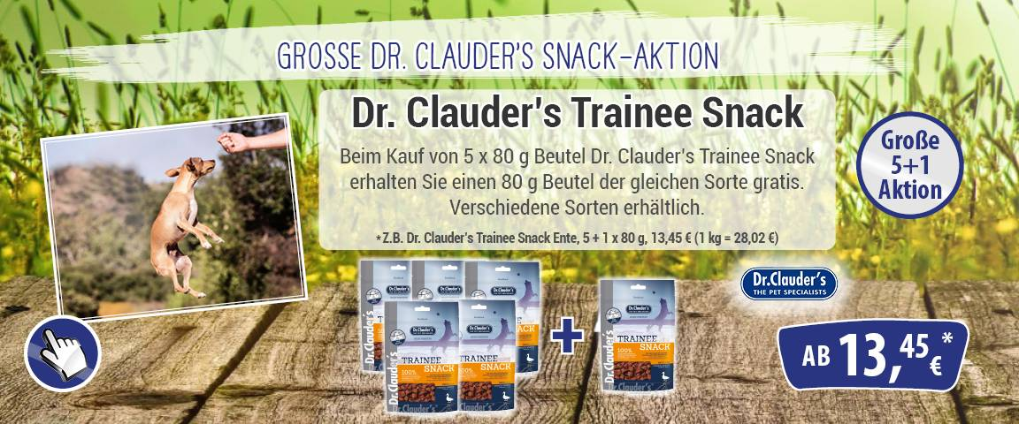 Dr.Clauders Trainee Snack Ente 80 g - 5+1 Aktion