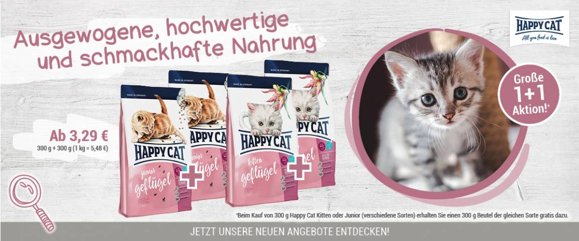 Happy Cat Supreme Kitten Geflügel 300 g - 1 + 1 Aktion