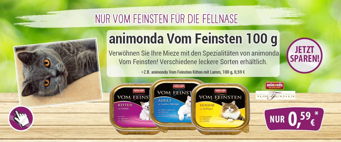 animonda Cat Vom Feinsten 100 g Schale - 6 % Aktionsrabatt