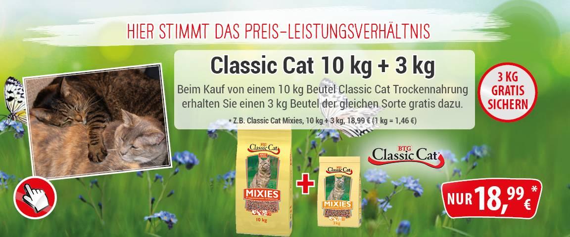 Classic Cat Trockennahrung Mixies 10 kg + 3 kg