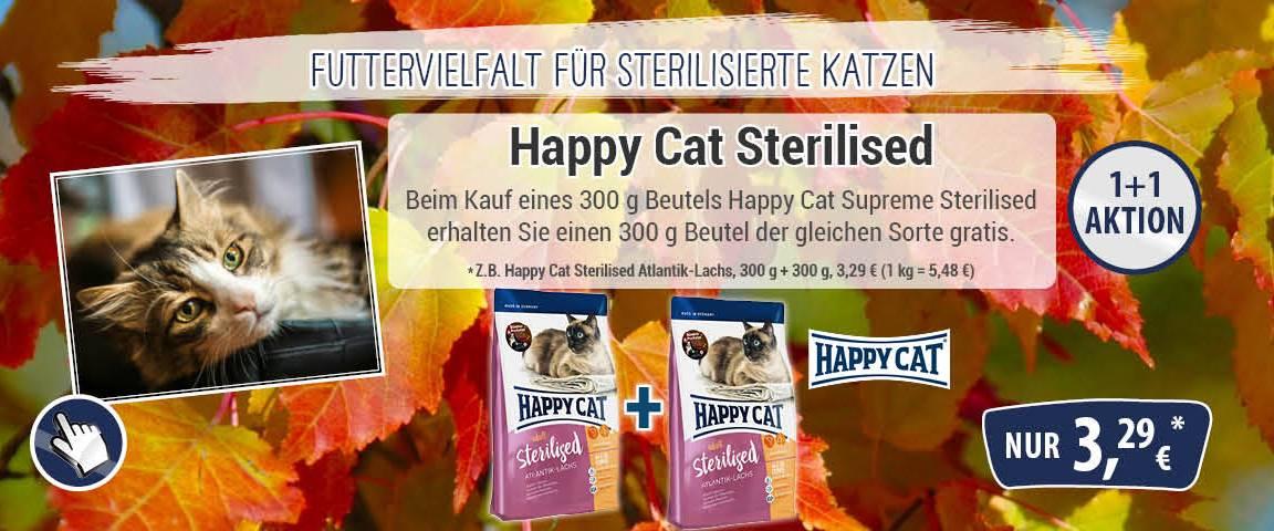 Happy Cat Supreme Sterilised Atlantik-Lachs 300 g + 300 g gratis