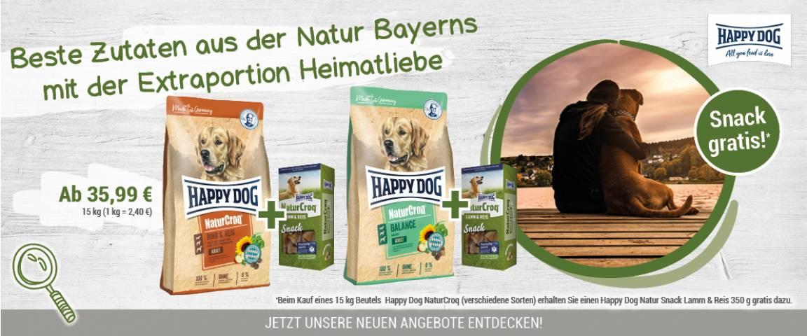Happy Dog NaturCroq Rind & Reis 15 kg kaufen + Natur Snack Lamm & Reis 350 g gratis