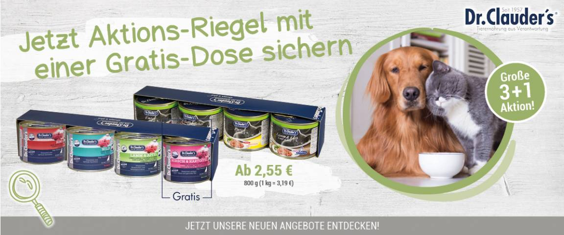 Dr.Clauders Selected Meat und Pearls Riegel 3+1