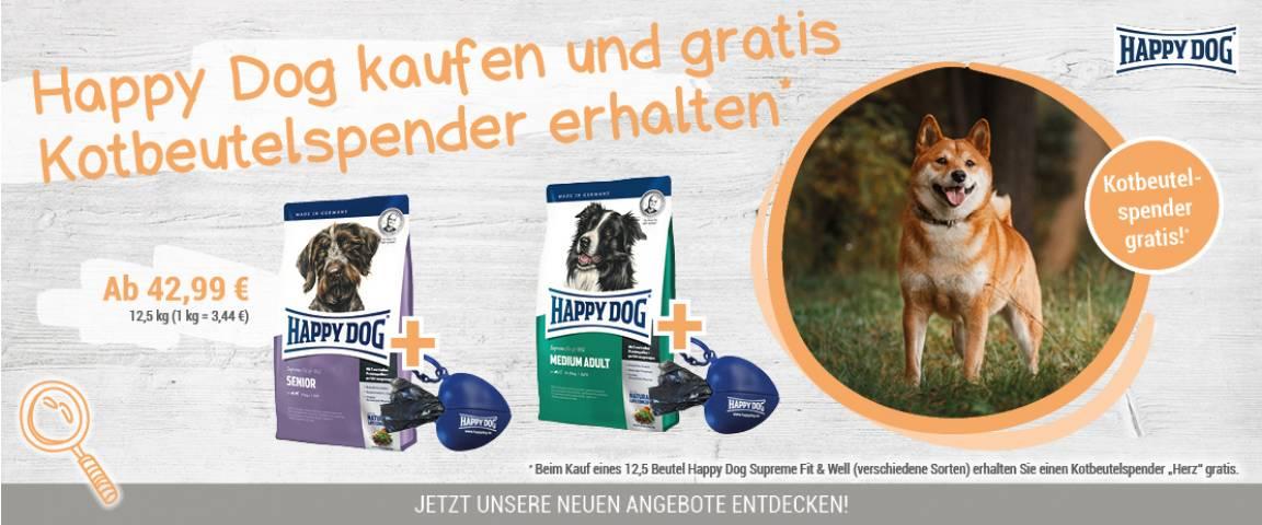 Happy Dog Supreme Fit & Well Senior 12,5 kg + Kotbeutelspender gratis