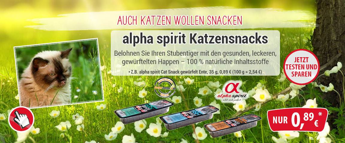 alpha spirit Cat Snacks - 10 % Aktionsrabatt