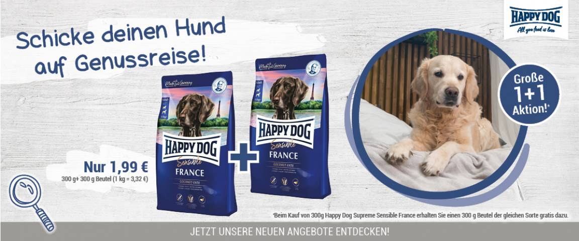 Happy Dog Supreme Sensible France 300 g + 300 g gratis