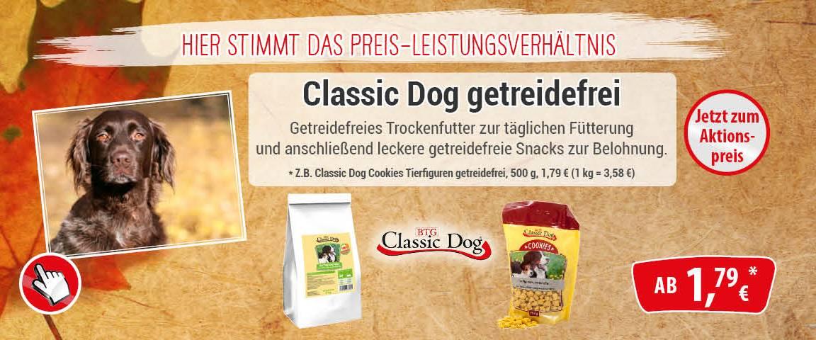 Classic Dog getreidefrei - 10 % Aktionsrabatt