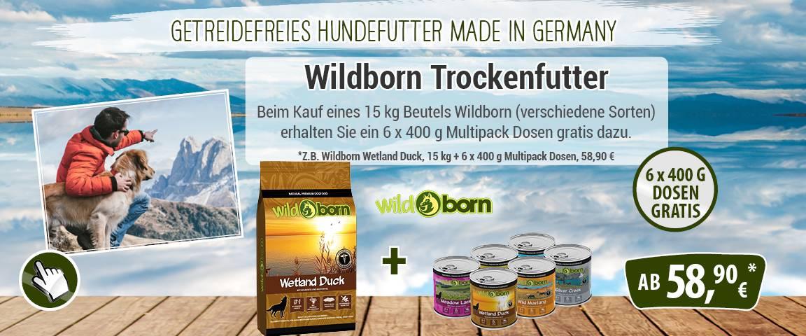 15 kg Wildborn Wetland Duck kaufen + 6 x 400 g Dosen gratis