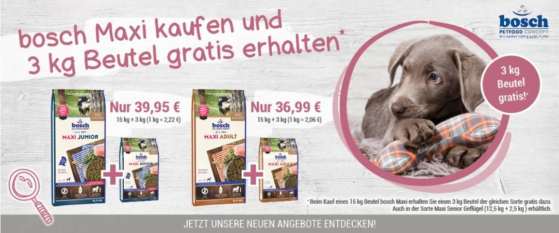 bosch Maxi Junior 15 kg + 3 kg gratis