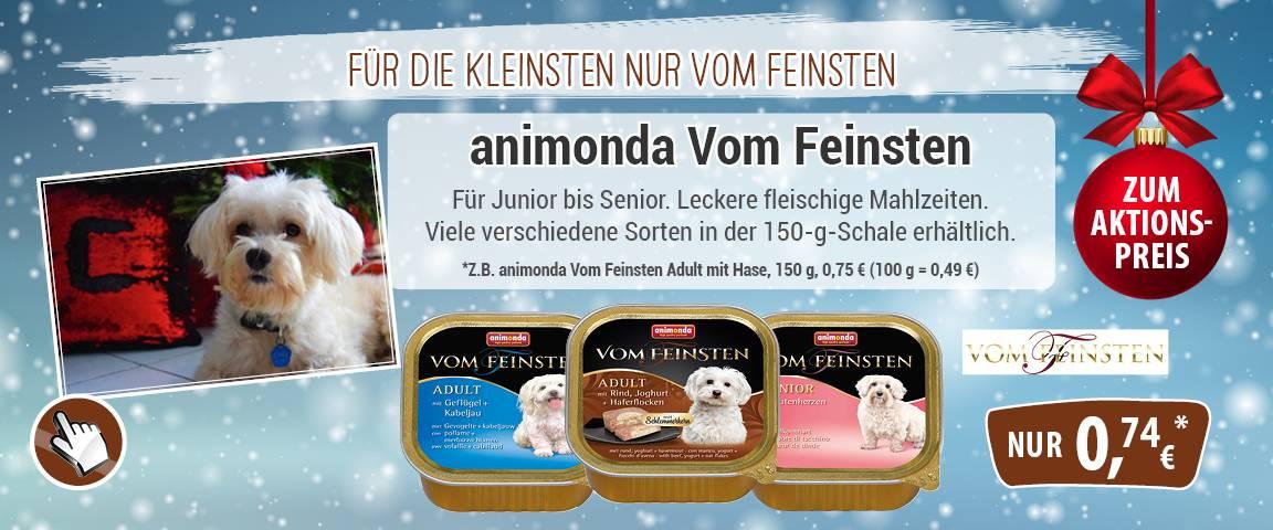 Animonda Dog Vom Feinsten 150g-Schale - 6 % Aktionsrabatt