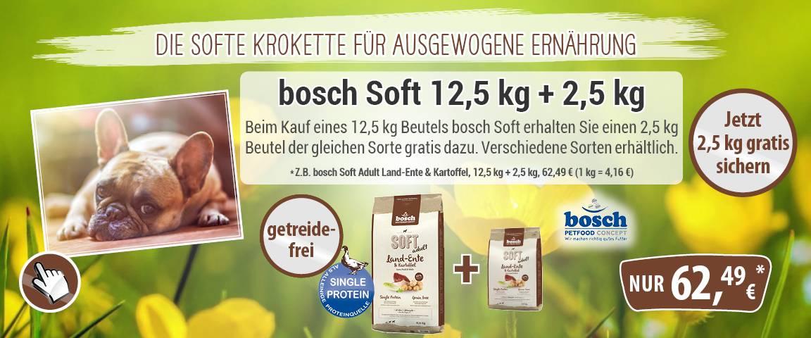 bosch Soft Adult Land-Ente & Kartoffel 12,5 kg + 2,5 kg gratis