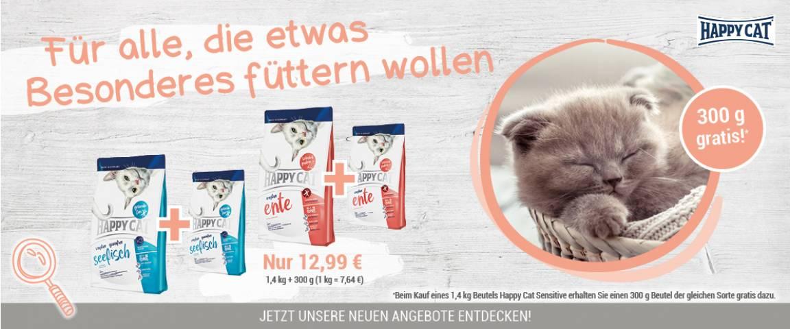 Happy Cat Sensitive Ente -  1,4 kg + 300 g gratis