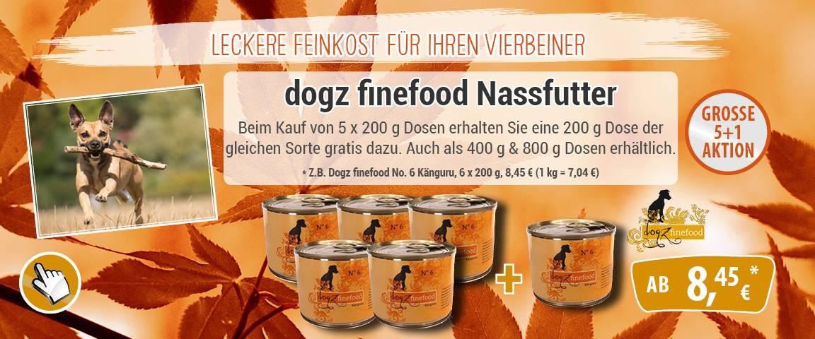 dogz finefood N° 6 - Känguru - 200g - 5 + 1 Aktion