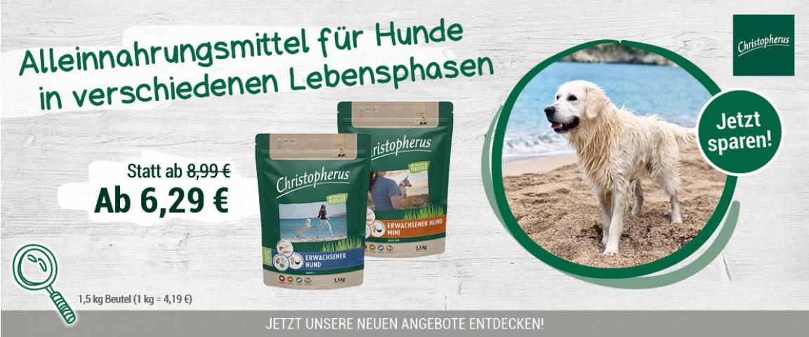 Christopherus Hund 1,5kg - 30 % Aktionsrabatt