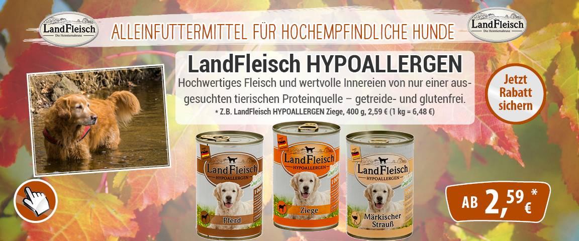 LandFleisch Dog Hypoallergen - 10 % Aktionsrabatt