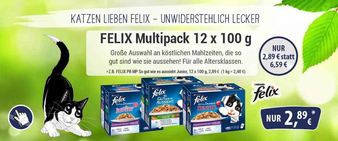 Felix 12 er Multipack - 18 % Aktionsrabatt