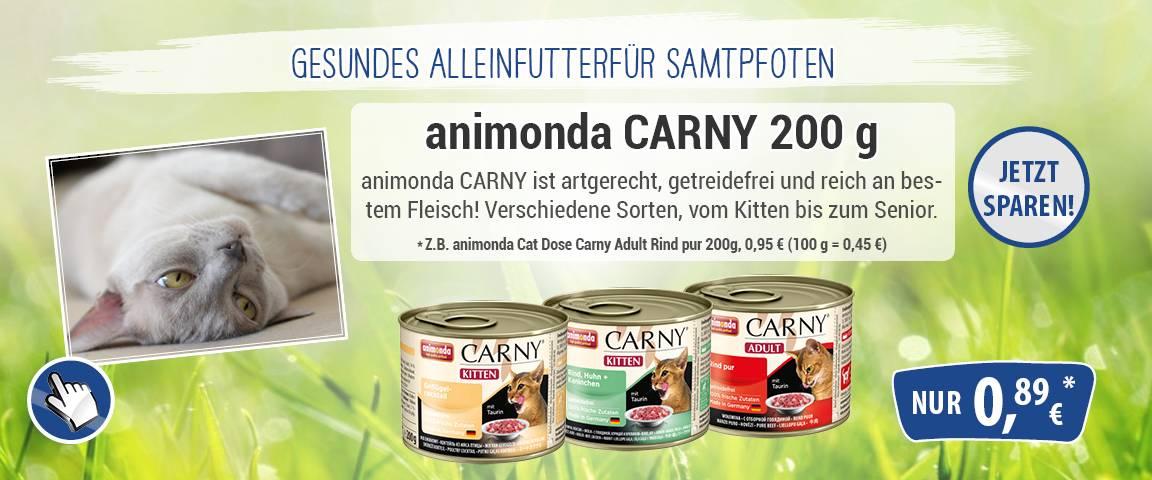 Animonda Carny 200g-Dose - 6 % Aktionsrabatt