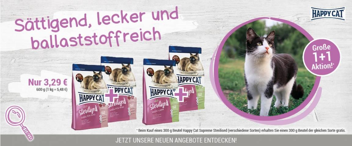 Happy Cat Supreme Sterilised Voralpen-Rind 300 g + 300 g gratis