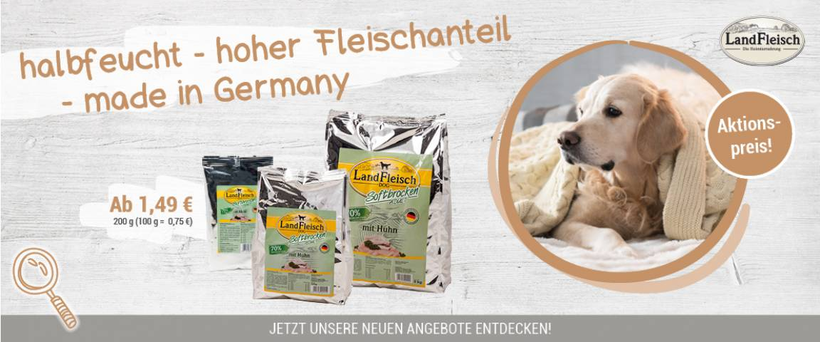 Landfleisch Aktionsartikel Dog Softbrocken Huhn