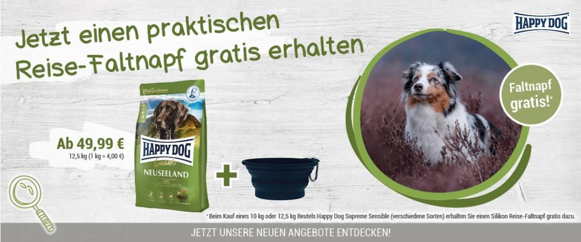 Happy Dog Supreme Sensible Neuseeland 12,5 kg + Faltnapf gratis