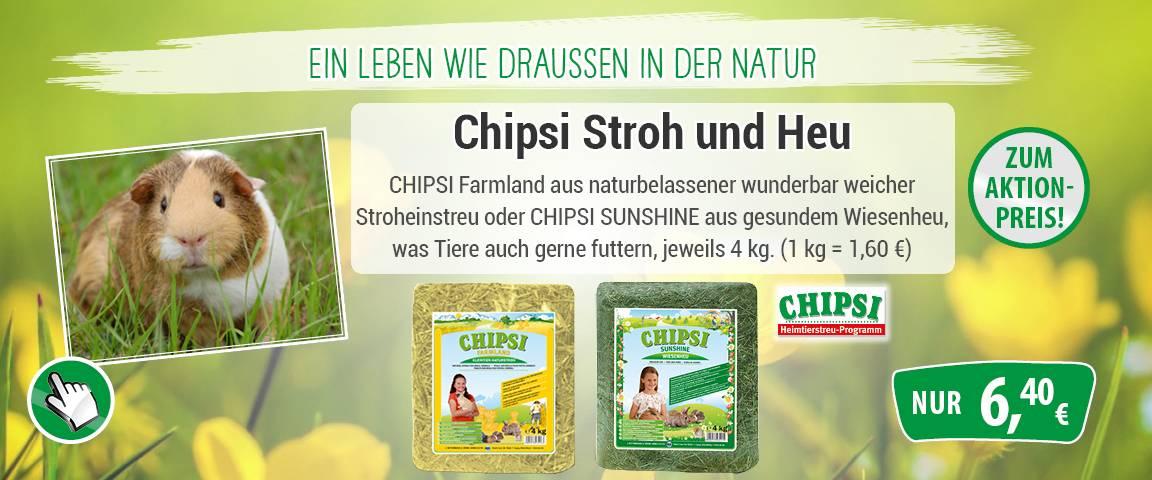 Chipsi Stroh und Heu - 20 % Aktionsrabatt