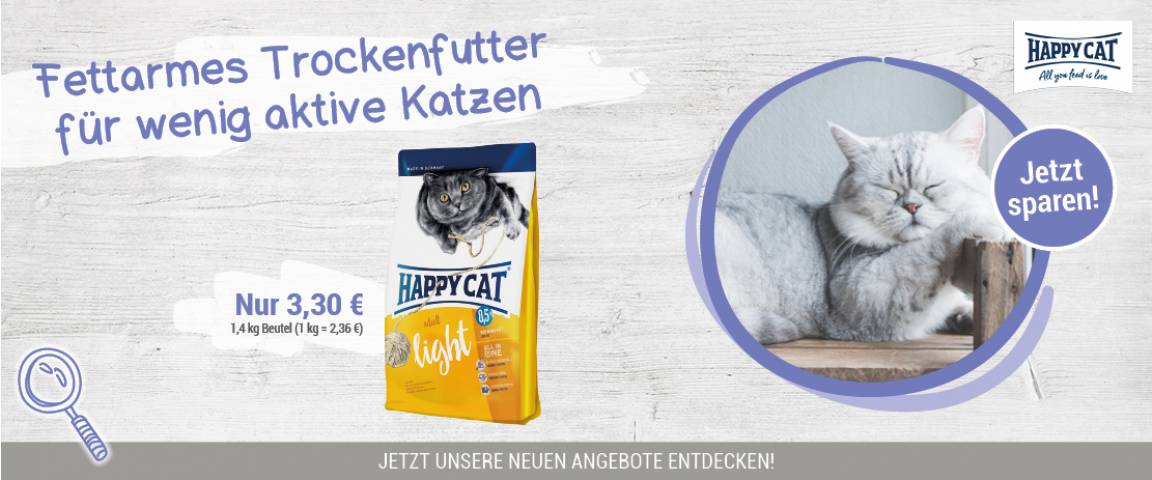 Interquell Aktionsartikel Happy Cat Supreme Adult Light 1,4 kg