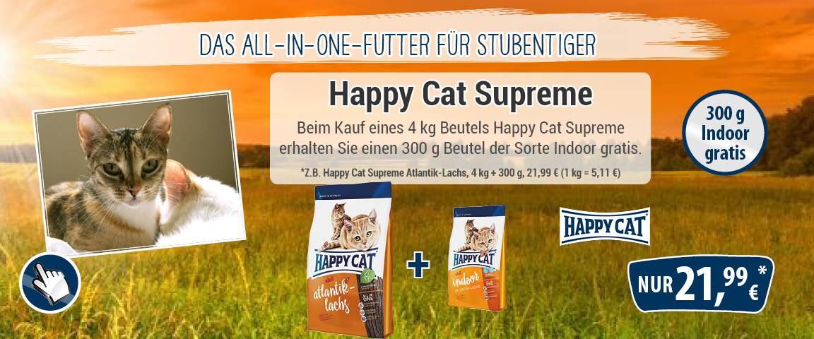 Happy Cat Supreme Atlantik-Lachs 4 kg + 300 g Indoor
