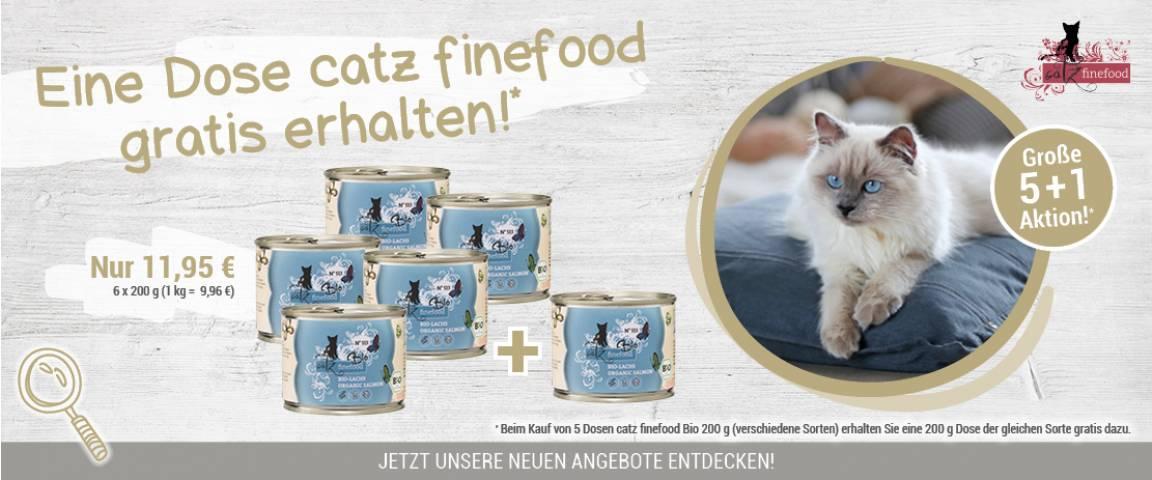catz finefood Bio No.513 Lachs 200 g - 5 + 1 Aktion