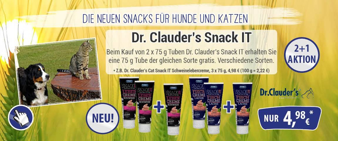 Dr.Clauders Cat Snack IT Schweinelebercreme 75 g - 2 + 1 Aktion