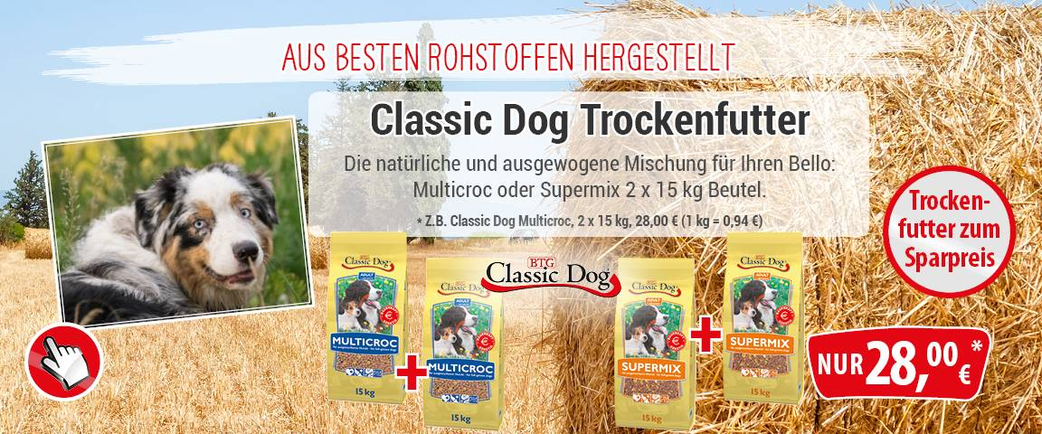 Classic Dog Multicroc 2 x 15 kg zum Aktionspreis