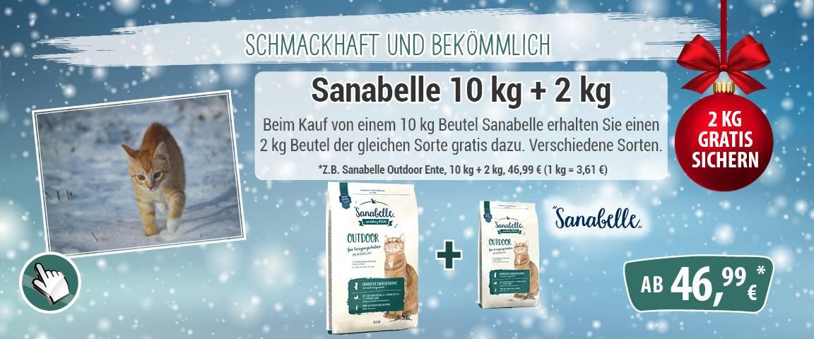 Sanabelle Outdoor Ente 10 kg + 2 kg gratis