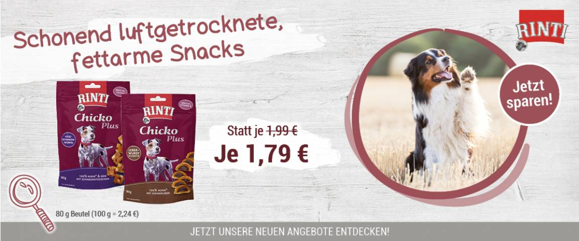 Rinti Snack Chicko Plus 80g - 5 % Aktionsrabatt
