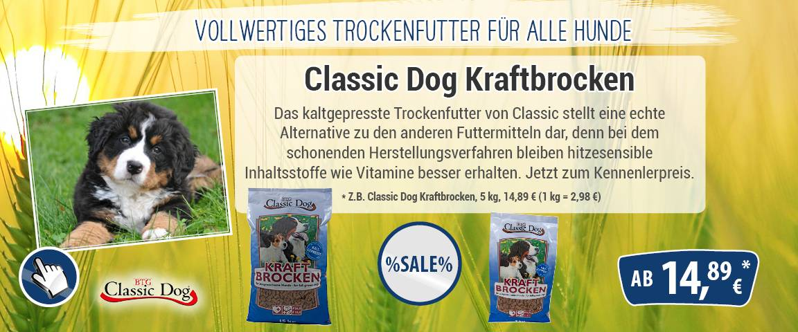 Classic Dog Kraftbrocken - 10 % Aktionsrabatt