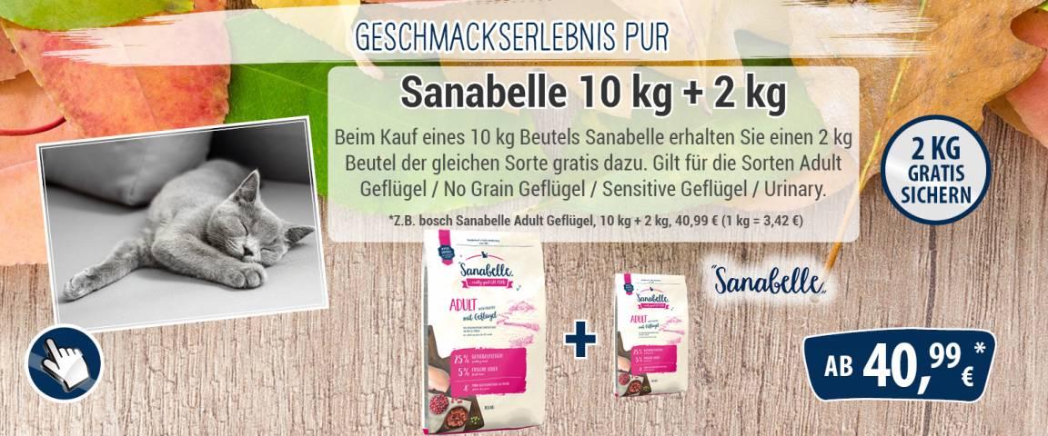 Sanabelle Adult Geflügel 10 kg + 2 kg der gleichen Sorte gratis